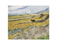 Enclosed Field with Ploughman Fine Art Print