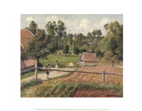 """View from the Artist's Window, Eragny by Camille Pissarro - 14"""" x 11"""""""