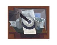 "Still Life with a Guitar, 1925 by Juan Gris, 1925 - 14"" x 11"""