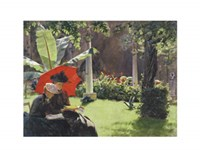 Afternoon in the Cluny Garden, Paris, 1889 Fine Art Print