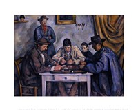"The Card Players, 1890 by Paul Cezanne, 1890 - 14"" x 11"" - $10.99"