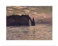 "The Cliff, Etretat, Sunset, 1883 by Claude Monet, 1883 - 14"" x 11"""