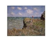 Cliff Walk at Pourville, c.1882 Fine Art Print