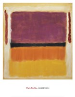 Untitled (Violet, Black, Orange, Yellow on White and Red), 1949 Framed Print