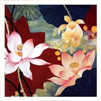 "Lotus Dream II by Hong mi lim - 22"" x 22"""