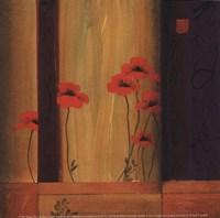 """Poppy Tile I by Don Li-Leger - 5"""" x 5"""" - $9.99"""