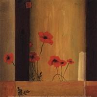 """Poppy Tile II by Don Li-Leger - 5"""" x 5"""" - $9.99"""