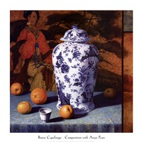 Composition with Asian Pears (Contemporary Still-Life #25) Fine Art Print