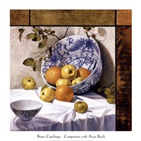 Composition with Asian Bowls (Contemporary Still-Life #6) Fine Art Print