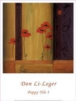 """Poppy Tile I by Don Li-Leger - 12"""" x 16"""" - $10.49"""