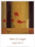 """Poppy Tile II by Don Li-Leger - 12"""" x 16"""""""