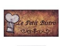 Le Petit Bistro Framed Print