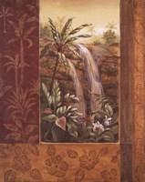Tropical Waterfall I Fine Art Print