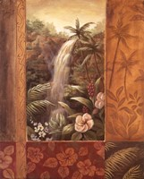 Tropical Waterfall II Fine Art Print