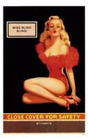 Miss Bling Bling Pin-Up Framed Print