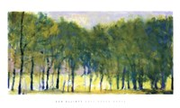 Soft Green Grove Framed Print