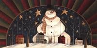 "Snowman Arch by David Harden - 20"" x 10"""