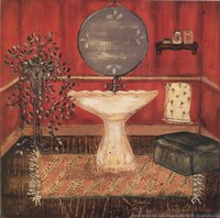 Bath in Red I Fine Art Print