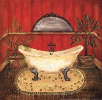 Bath in Red II Fine Art Print