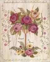 Bouquet De Roses Framed Print
