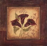 """Crimson IV by Jo Moulton - 12"""" x 12"""""""