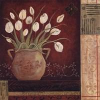 """Villa Tulips by Jo Moulton - 8"""" x 8"""", FulcrumGallery.com brand"""