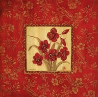 """Orchids In Red by Jo Moulton - 24"""" x 24"""""""