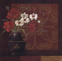 "Tranquil Bouquet I by Jo Moulton - 12"" x 12"""