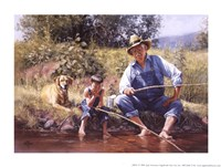 Fishin' with Grandpa Fine Art Print