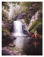 "Looking Glass Falls by Jack Sorenson - 13"" x 17"""