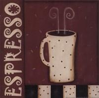 Espresso - Polka Dot Mug Framed Print