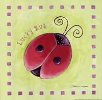 "Lucky Bug by Stephanie Marrott - 8"" x 8"", FulcrumGallery.com brand"