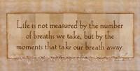 "Life is Not Measured by Stephanie Marrott - 20"" x 10"""