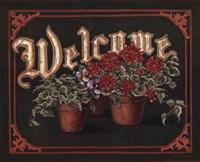 """Welcome - Flower Pots by Stephanie Marrott - 20"""" x 16"""""""