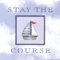 "Stay The Course by Stephanie Marrott - 8"" x 8"", FulcrumGallery.com brand"
