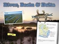 "River, Basin & Delta by Angela Ferrante - 24"" x 18"""