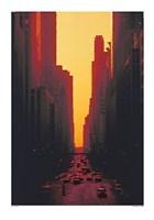 Skyscrapers at Sunset Fine Art Print