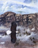 Eagle - Mount Rushmore Framed Print