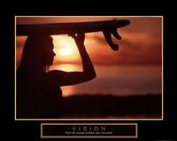 """Vision - Female Surfer by Angela Ferrante - 28"""" x 22"""""""