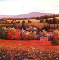 "Poppy Pastures II by T.C. Chiu - 12"" x 12"", FulcrumGallery.com brand"