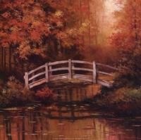 Wooden Bridge Framed Print