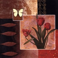 Rose/Butterfly Fine Art Print