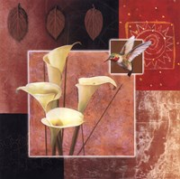 "Calla Lily/Butterfly by Tan Chun - 26"" x 26"""