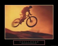 Challenge - Bike Framed Print