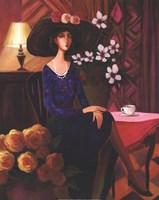 """Tea Time Left by T.C. Chiu - 16"""" x 20"""""""