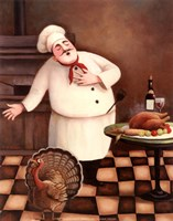Turkey Chef I Fine Art Print