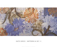 Saffron & Sky II Fine Art Print