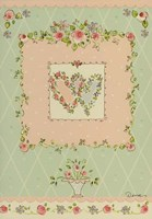 Birthday Shabby Chic Hearts Greeting Card