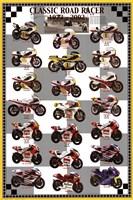 "Classic Road Racers 1973-2002 by Angela Ferrante - 24"" x 36"""
