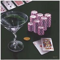 Poker Chips Big Slick Fine Art Print